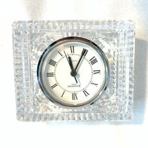 WATERFORD CRYSTAL TABLR CLOCK
